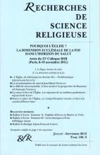 ACTES DU COLLOQUE (I) : POURQUI L'ÉGLISE? LA DIMENSION ECCLÉSIALE DE LA FOI DANS L'HORIZON DU SALUT