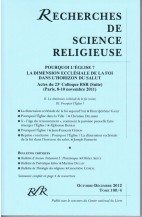 ACTES DU COLLOQUE (II) : POURQUI L'ÉGLISE? LA DIMENSION ECCLÉSIALE DE LA FOI DANS L'HORIZON DU SALUT
