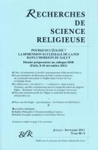 DOSSIER PRÉPARATOIRE AU COLLOQUE DES RSR (PARIS, 8 – 10 NOVEMBRE 2011)