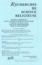 ACTES DU COLLOQUE (II) PENSER LA DIFFÉRENCE DANS LA CRISE CULTURELLE DE L'EUROPE