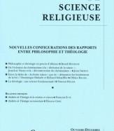NOUVELLES CONFIGURATIONS DES RAPPORTS ENTRE PHILOSOPHIE ET THÉOLOGIE