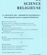 LA QUESTION DES « PROPHÈTES POSTÉRIEURS»