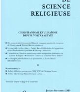 CHRISTIANISME ET JUDAÏSME DEPUIS NOSTRA AETATE