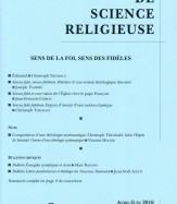 SENS DE LA FOI, SENS DES FIDÈLES (104/2 – avril-juin 2016)