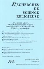 « S'ADRESSER À DIEU » POUR UN DISCERNEMENT DU DIVIN (104/3 – juil-sept. 2016)