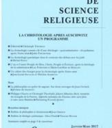 LA CHRISTOLOGIE APRÈS AUSCHWITZ UN PROGRAMME