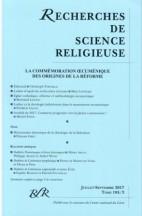 LA COMMÉMORATION ŒCUMÉNIQUE DES ORIGINES DE LA RÉFORME