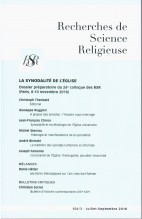 LA SYNODALITÉ DE L'ÉGLISE – Dossier préparatoire du 26e colloque des RSR (8-10 novembre 2018)