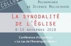 ACTES DU 26e COLLOQUE : LA SYNODALITÉ DE L'ÉGLISE
