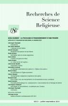 KARL RAHNER – La puissance d'engendrement d'une pensée. ACTES du 27e Colloque des RSR (Paris, 6-8 Janvier 2021)